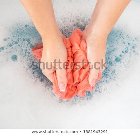 Drap lavage coloré vêtements machine à laver Photo stock © pkdinkar