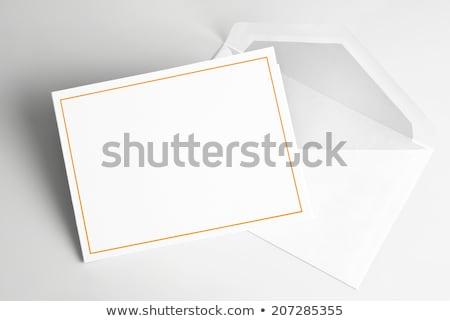 tebrik · kartı · sarı · zarf · iletişim · kâğıt · düğün - stok fotoğraf © devon