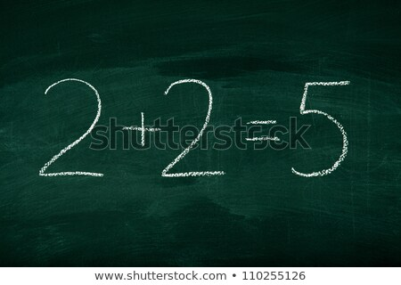 Symbolize wrong answer on mathematic formula stock photo © vetdoctor