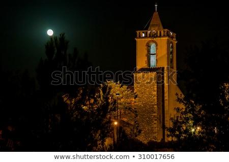 Cloche tour clair de lune lumière Photo stock © arocas