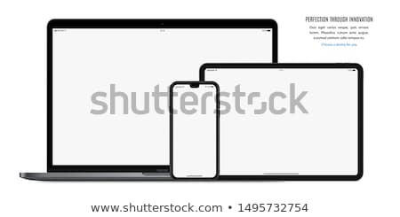 Stock foto: Phone Pc And Tablet Isolated