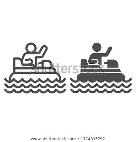 line of pedal boats stock photo © elenarts