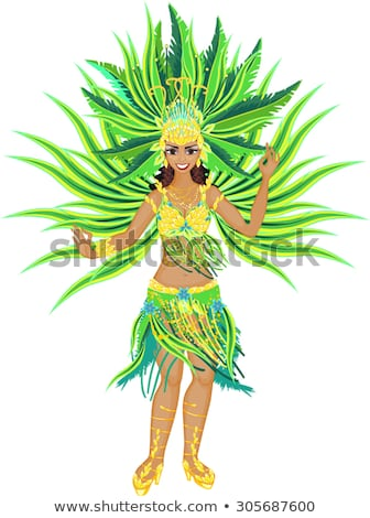 beautiful carnival girl stock photo © glyph