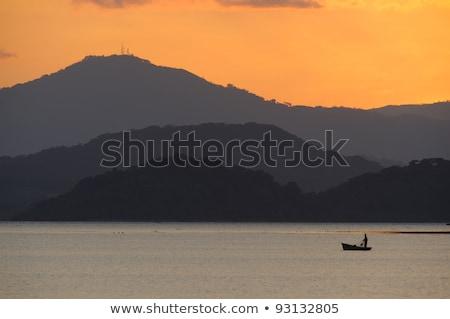日没 · オレンジ · 水 · コスタリカ - ストックフォト © emiddelkoop