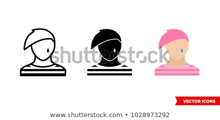 Emo design elements and icons isolated on white ( black & pink ) Stock photo © lordalea