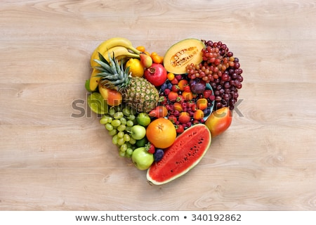 Stock photo: Heart From Fruit And Vegetables