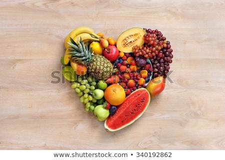 Herz Obst Gemüse Design Gruppe Zitrone Stock foto © barbaliss
