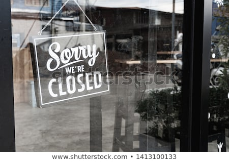 A closed sign in a shop window. Stock photo © latent