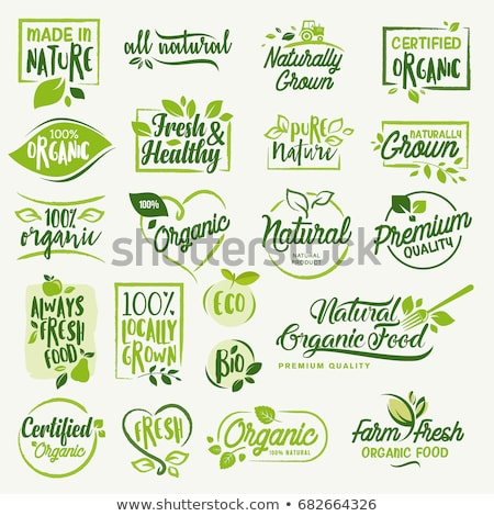 Stock photo: Organic food labels