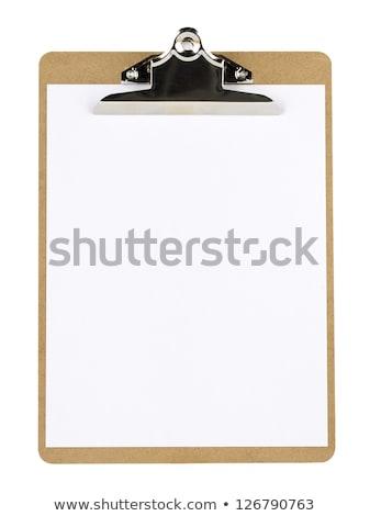 Enfermeira escrita clipboard paisagem cabelo saúde Foto stock © photography33