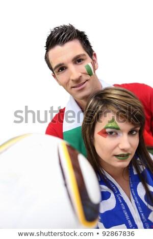 Couple of Italian football supporters Stock photo © photography33