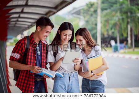 Stock photo: Happy asian student