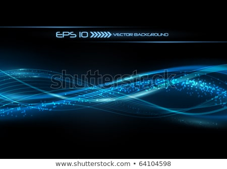 blue motion flowing energy stock photo © artida