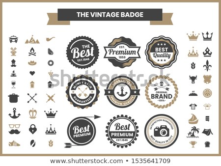 Vector retro vintage stamps stock photo © orson
