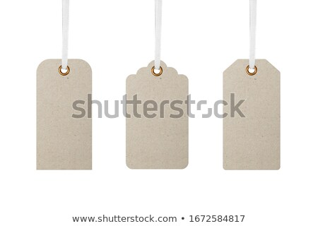 Denim gift tag Stock photo © AnnaVolkova
