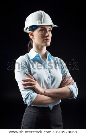 Oluşturucu bakıyor mesafe adam inşaat çalışmak Stok fotoğraf © photography33