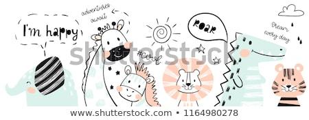 cute · baby · projektu · sztuki - zdjęcia stock © indiwarm
