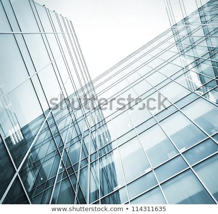 современных стеклянное здание сторона Cool современный угол Сток-фото © bobbigmac