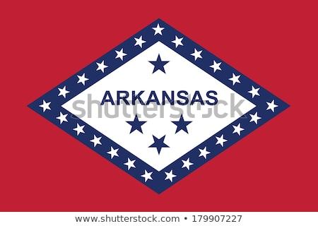 Zászló Arkansas integet szél utazás piros Stock fotó © creisinger