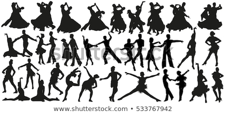 Rumba Dancers Silhouettes Set Stock photo © Kaludov