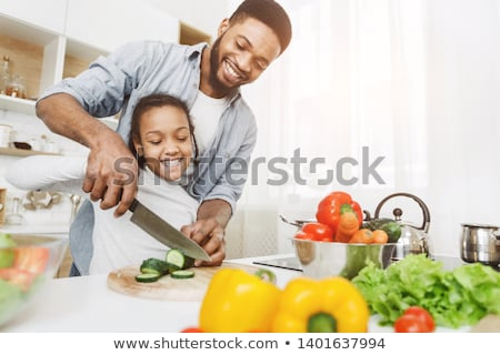 a man cutting vegetables stock photo © photography33