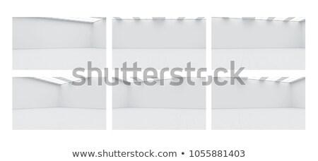 galéria · belső · üres · keret · kék · fal - stock fotó © ciklamen