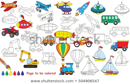 Foto stock: Set Of Colourful Rockets