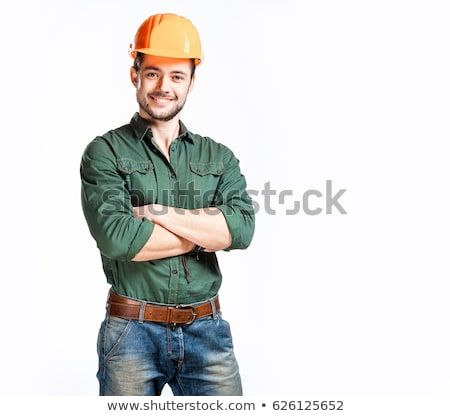 Young construction worker confident Stock photo © stevanovicigor