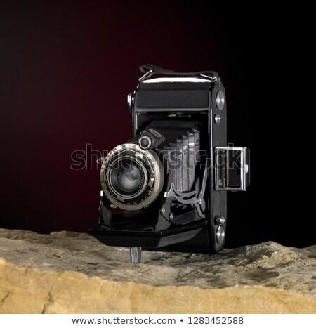 nosztalgikus · kamera · kő · felület · csendélet · föld - stock fotó © prill