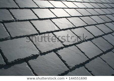 slate roof detail stock photo © franky242