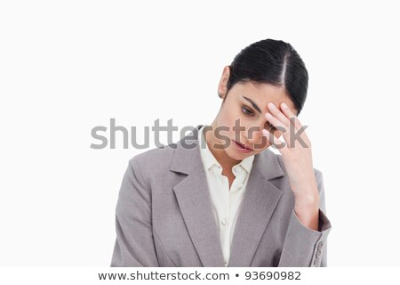 A worried tradeswoman Stock photo © photography33
