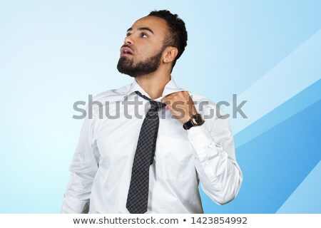 young black executive untying the knot Stock photo © photography33