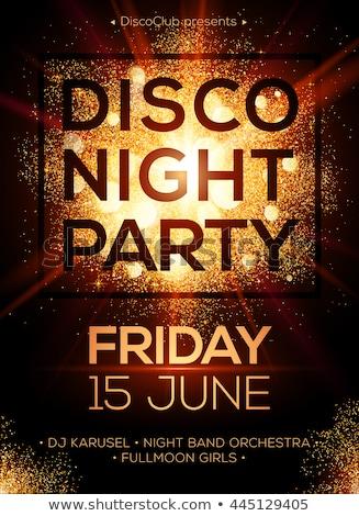 disco club flyer stock photo © davidarts