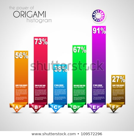 Origami style ranking paper. Ideal for info graphics, stylish graphs and histograms. Stock photo © DavidArts