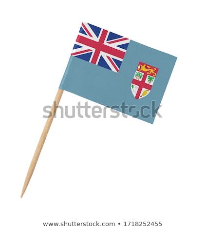 Miniatűr zászló Fidzsi-szigetek izolált vágási körvonal megbeszélés Stock fotó © bosphorus