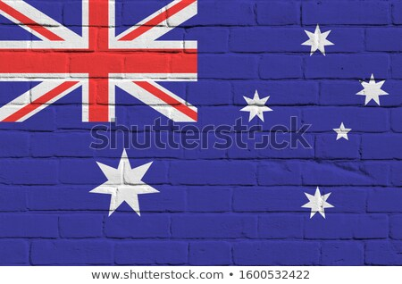 Stockfoto: Lag · van · Australië · op · bakstenen · muur