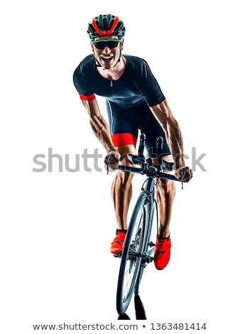 Tam uzunlukta geri siluet adam yalıtılmış Stok fotoğraf © arlatis