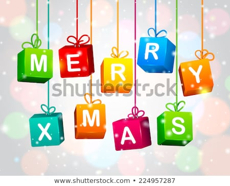 Merry Christmas in 3d letters and cubes Stock photo © marinini