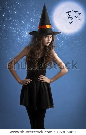 黒 · 魔女の帽子 · 孤立した · 白 - ストックフォト © carlodapino