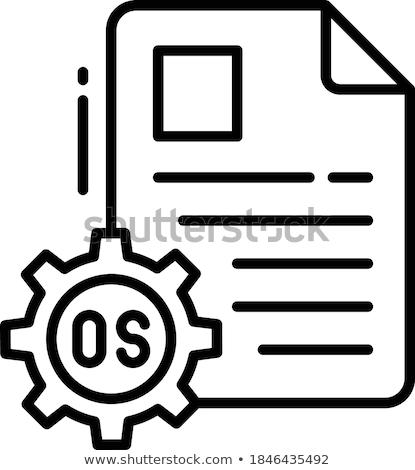 Nube vacío programa iconos software colorido Foto stock © tashatuvango