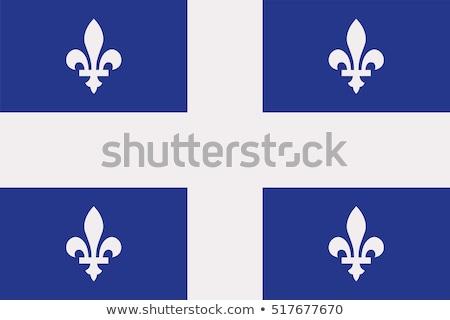 Stockfoto: Quebec · vlag · najaar · bewolkt · dag · hemel