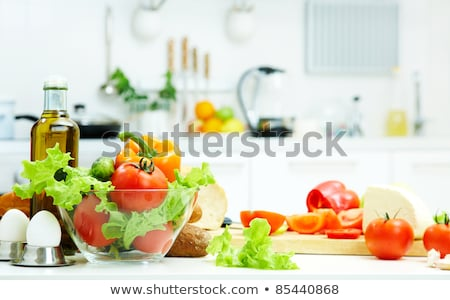 Stock fotó: Vegetables And Meat On Kitchen Counter