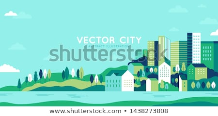 Landscape with city stock photo © WaD