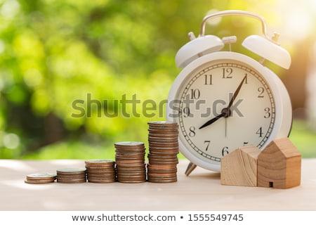 Az idő pénz emlékeztető jegyzet darab papír öreg Stock fotó © stevanovicigor