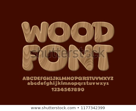 Wooden fonts Stock photo © Fyuriy