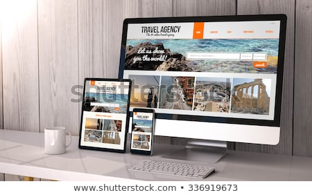 Browsing a website on tablet pc Stock photo © silent47