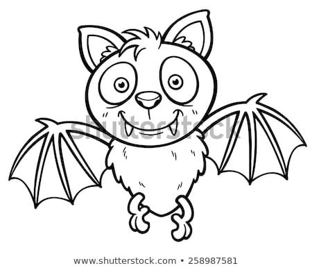 Dracula wampira cartoon kolorowanka czarno białe ilustracja Zdjęcia stock © izakowski