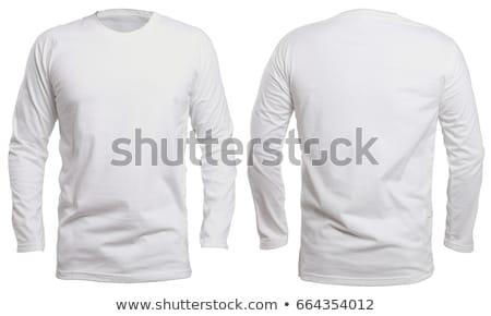 Z długim rękawem shirt odizolowany biały tle mężczyzn Zdjęcia stock © ozaiachin