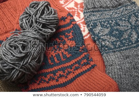 pair of wool socks with a pattern deer Stock photo © RuslanOmega