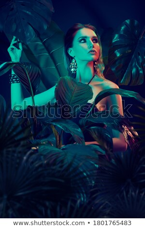 Sultry dark haired beauty Stock photo © stryjek